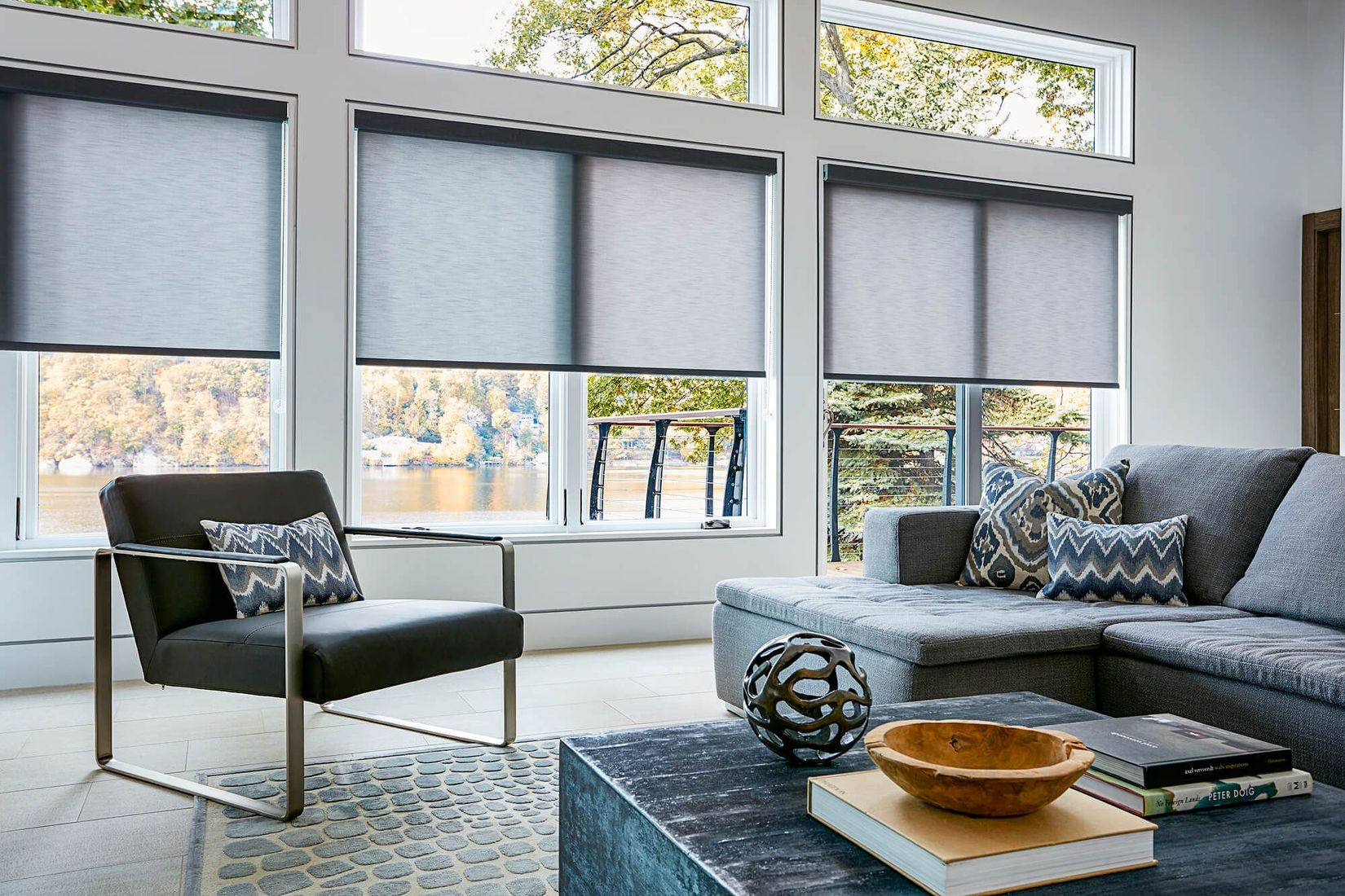 Translucent roller shades